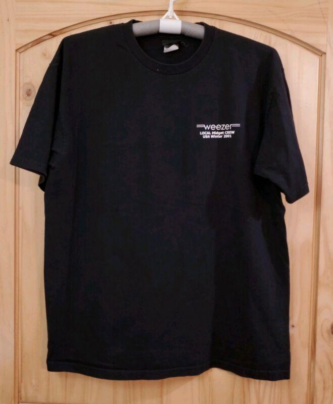 Weezer Official Concert Crew Shirt 2001 Midget Tour Authentic - Size XL