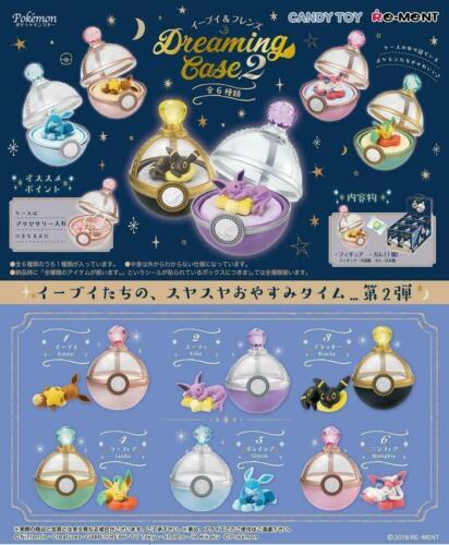 Re-ment Pokemon Eevee & Friends Dreaming Case #2 Box of 6 Figures Complete Set