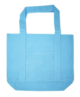 Large Non Woven Tote - Blue Non-Woven Reusable Shopping Tote Bag 16-inch Large
