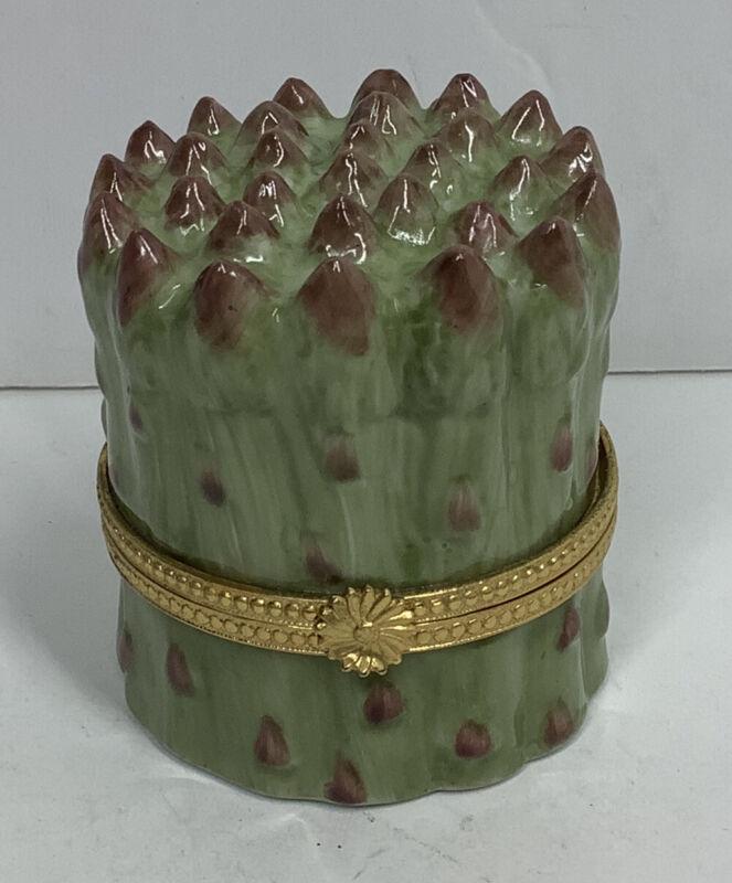 Vintage Takahashi Asparagus Trinket Box