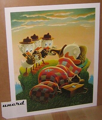 Carl Barks Kunstdruck: Rude Awakening - Donald Duck, Nephews Art Print