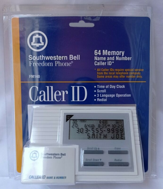 NEW Southwestern Bell Freedom Phone 64 Memory Name & Number Caller ID FM140