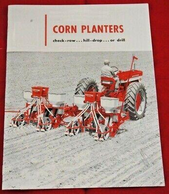Ih Mccormick Corn Planters Dealer Brochure Check Row Hill Drop Drill Trailing