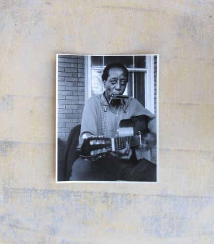 BLUES PHOTO: DOCTOR ROSS on his front porch, Flint, Michigan 1984 (Jim O'Neal 2)