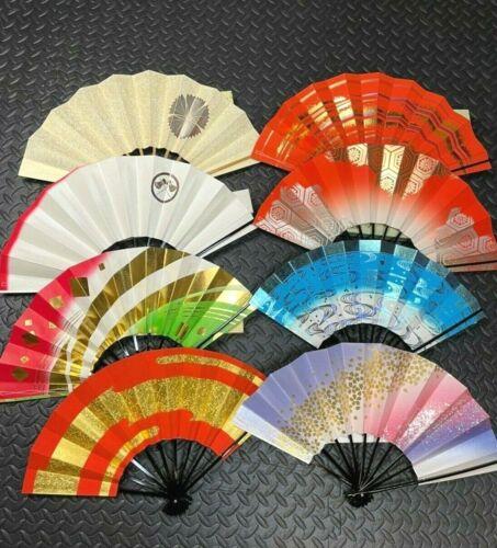 Japanese Folding Fan Dance Odori Geisha Sensu 8 Type set For Decoration or Dance