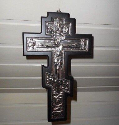 Kruzifix Clarte Golden Seal Kopie Byzantinische Ikone 925-er Silber Kreuz