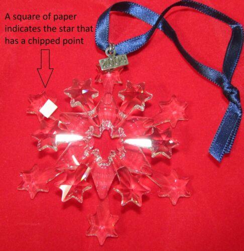 2004 Swarovski Christmas Crystal Ornament, Large Annual Edition, MINT