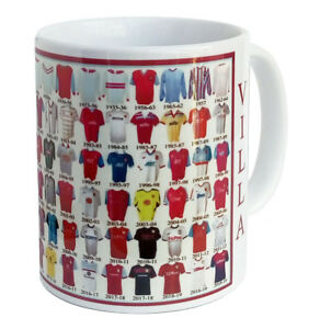 Aston Villa Mug Football shirt history New Gift