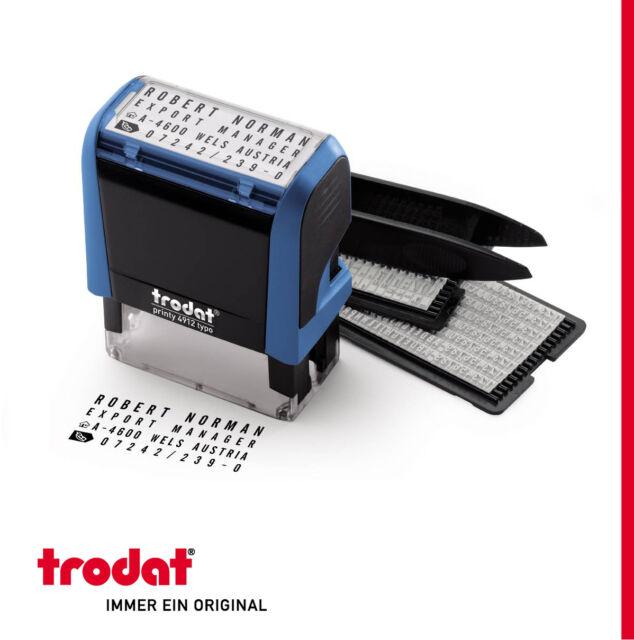 ORIGINAL TRODAT 4912 TYPOMATIC - 47x18mm - NEW