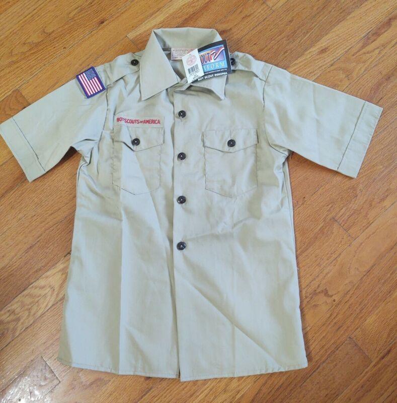 Official Boy Scout BSA Uniform Short Sleeve Tan Shirt Various Sizes NEW