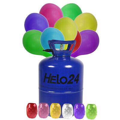 Helium Ballongas ca.0,42 m³ Heliumflasche Hochzeit inkl 50 Luftballons RUND BUNT