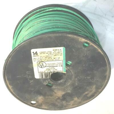 Green 14 Awg Thhn Stranded Wire 8 Lb Spool Nos