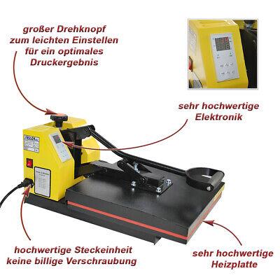 Transferpresse T-Shirtpresse Textilpresse Standard 38x38 + Taschen 7