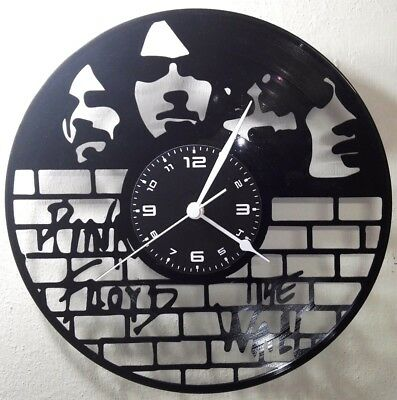 OROLOGIO DA PARETE FATTO A MANO - DISCO IN VINILE - ROCK - PINK FLOYD THE WALL