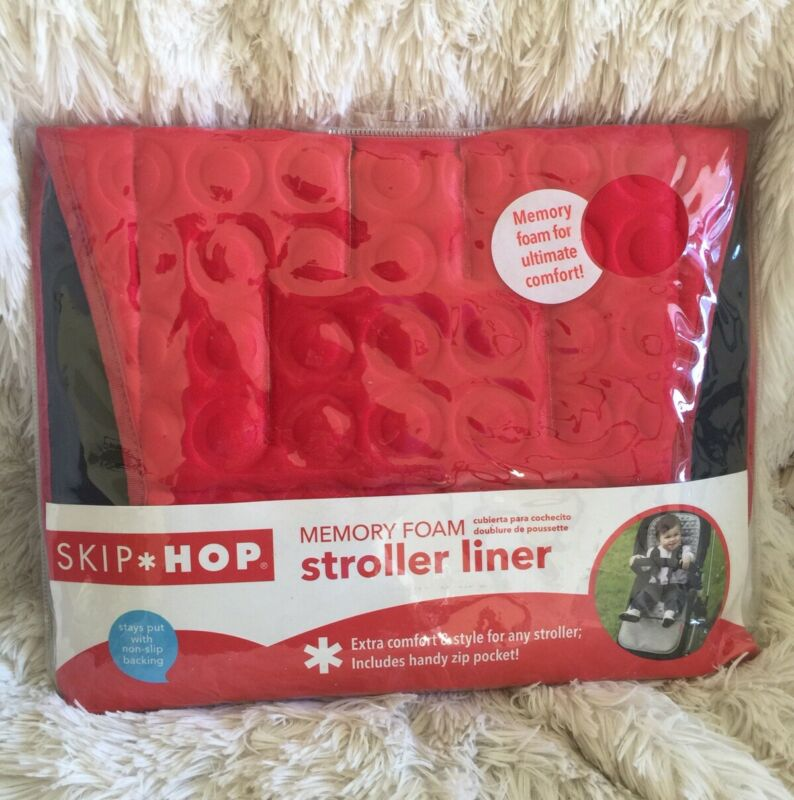 Skip Hop *NEW* Memory Foam Stroller Liner Red Pad Cushion
