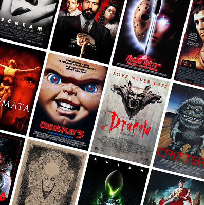 BEST CLASSIC HORROR MOVIE POSTERS PRINTS - A4 A3 A2 - Alien, Dracula, Gremlins](Best Classic Horror Movies)