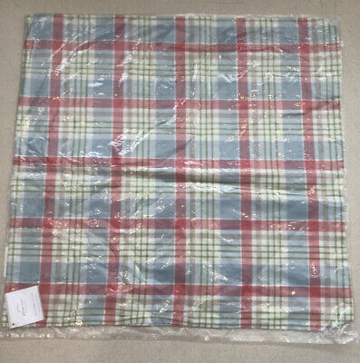 "Pottery Barn Wilton Plaid Pillow Cover 22 X 22"" Multi Color"