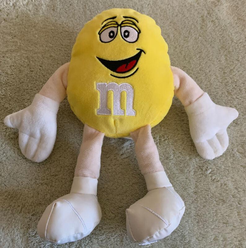 M&Ms World Yellow M&M Embroidered Feet Fleece Stuffed Animal Toy