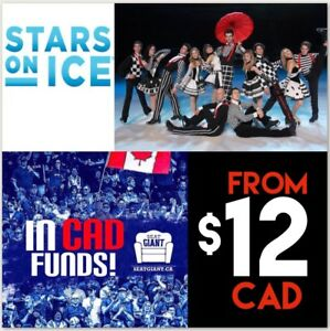 STARS ON ICE IN OTTAWA - SUNDAY FROM $12 CAD!!!