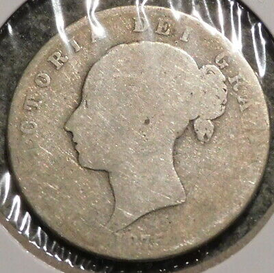 British Silver Half Crown - 1875 - Queen Victoria - $1 Unlimited Shipping