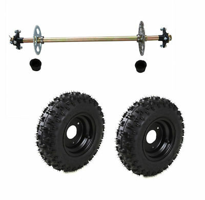 Go Kart Rear Axle Kit Hub Complete Wheels 4.10-6 Off-Road Fun Cart Parts DIY