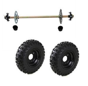 Go Kart Rear Axle Kit Complete Wheel Hub Set with Tires Off road Kids Kart Parts