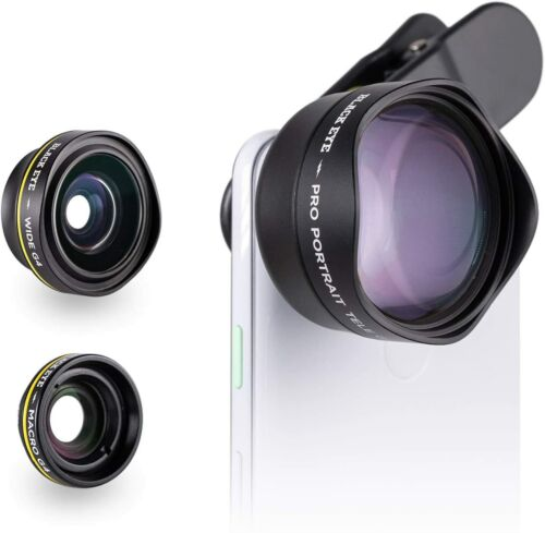 $150 Black Eye Lens Smartphone Pro Photo Travel Kit for Iphone 12 Android Moment