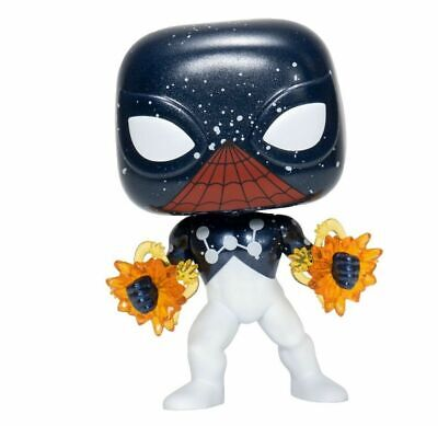 FUNKO POP SPIDER-MAN CAPTAIN UNIVERSE EE EXCLUSIVE #614 NEW W/ PROTECTOR IN HAND