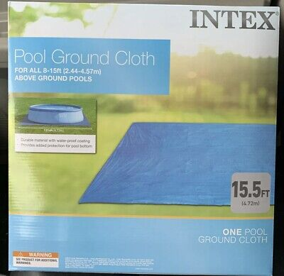 Intex Pool Ground Cloth for 8ft to 15ft Round Above Ground Pools, New
