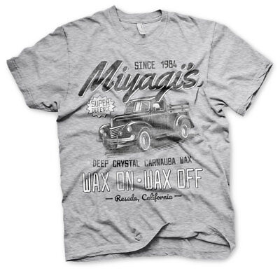 Karate Kid Mister Miyagi Defence Wax On Off Since 1984 Männer Men T-Shirt Grau - Mister Miyagi