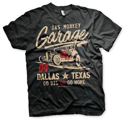 Kleidung Rod (Gas Monkey Garage Go Big or Go Home Hot Rod Dallas Texas Männer Men T-Shirt)