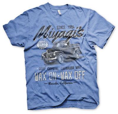 Karate Kid Mister Miyagi Defence Wax On Off Since 1984 Männer Men T-Shirt Blau - Mister Miyagi