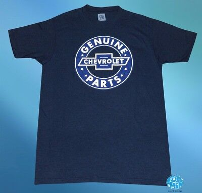 New Chevy Chevrolet Genuine Parts Sign Men's Vintage Throwback T-Shirt Genuine Chevy Parts