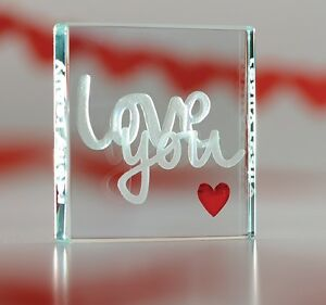 Spaceform really love you glass romantic love gifts ideas for Valentines day ideas for her romantic