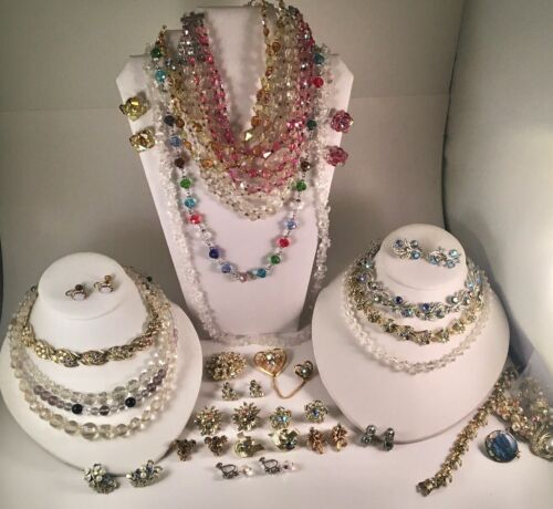 *You PICK* Vintage Aurora Borealis /Clear Jewelry: Lisner,Coro,Austria+