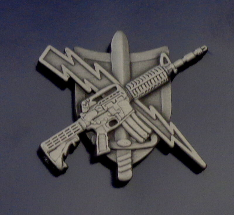 Tactical Patrol Officer Center Mass ANTIQUE SILVER police/sheriff uniform pin
