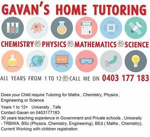 Gavan's Professional Tutoring - Mathematics, Physics, Chemistry, Dianella Stirling Area Preview