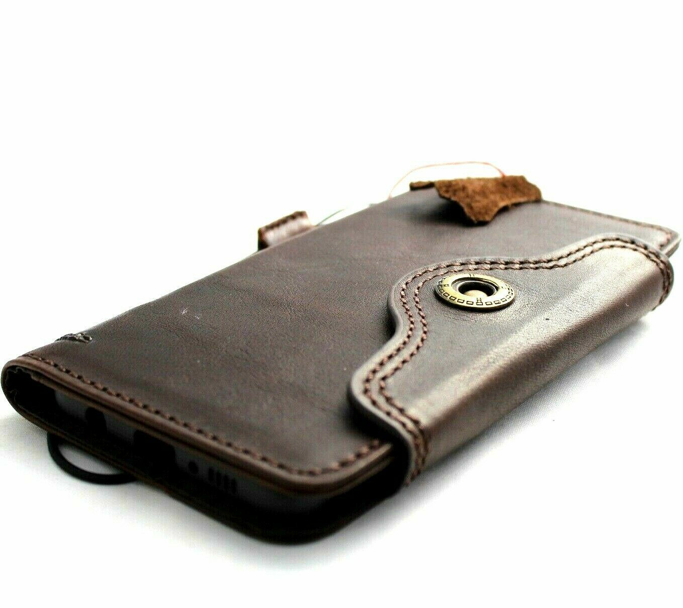 check out b2d27 35cc9 Details about Genuine leather Case for Samsung Galaxy S10 wallet book  wireless charging Retro