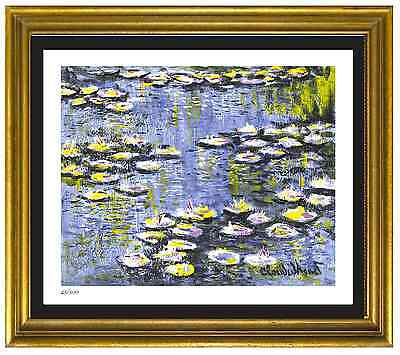 "Claude Monet Signed & Hand-Numbered Ltd Ed ""Water Lilies"" Litho Print (unframed)"