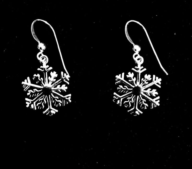 .925 Sterling Silver Snowflake Dangle Earrings Christmas Special 3 for $53