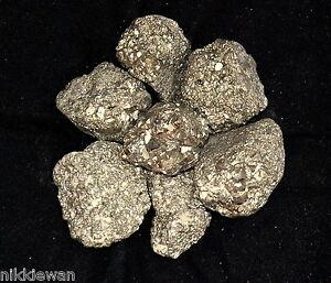 PYRITE FOOLS GOLD CRYSTALS PIECES 500G MINERAL MASS BIG