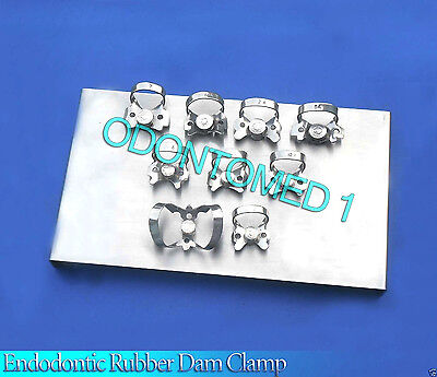 New Dental Clamps Tray With 12 Clamps Stainless Steel