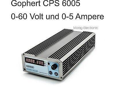 Labornetzgerät Labor-Netzgerät Gophert CPS-6005 0-60 V, 0-5 A regelbar, LED Anz.