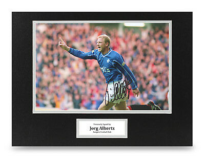 Jorg Albertz Signed 16x12 Photo Display Rangers Autograph Memorabilia + COA
