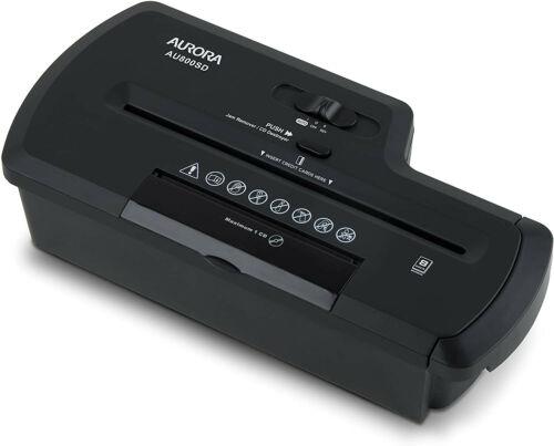 Aurora AU800SD Professional Strip Cut Paper Shredder/CD/Credit Card Shredder Wit