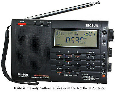 Tecsun PL660 AM FM SW Air SSB Synchronous Radio - Black