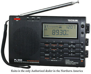 Tecsun PL660 AM FM SW Air SSB Synchronous Shortwave Radio - Black