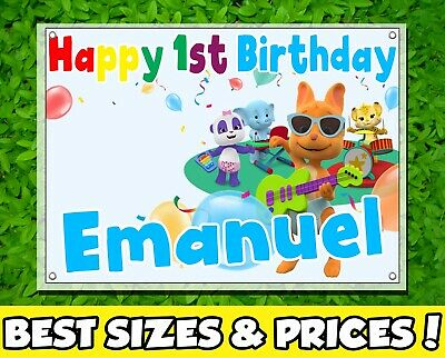 Personalized Happy Vinyl Birthday Banner Customized - Word Party](Vinyl Birthday Banners Personalized)