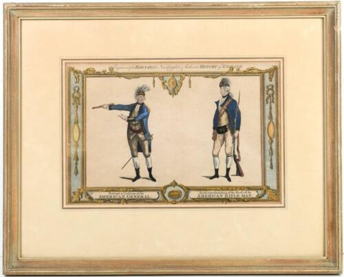 Rare Revolutionary War-Dated Engraving of Continental Army Generals & Officers