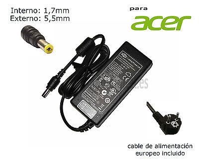 Cargador de portátil ACER Aspire 5040 19V/4.74A 5.5MM X 1.5 MM 90W